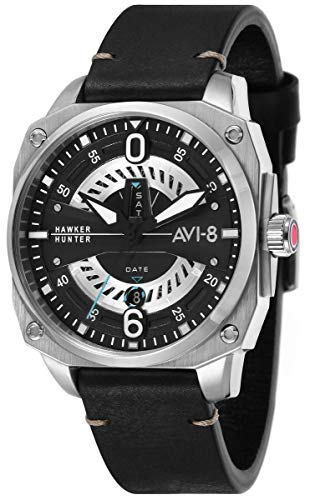AVI-8 Mens Hawker Hunter Watch - Black/Silver