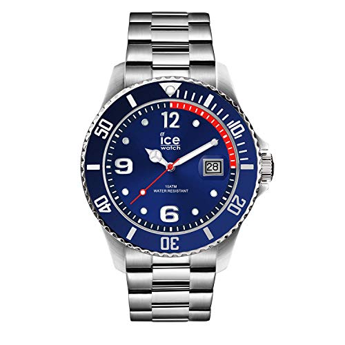 Ice watch ice Steel Mens Analogue Japanese-Quartz Watch with Stainless-Steel Bracelet IC015771