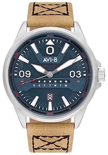 Hawker Harrier Mens Analogue Japanese-Quartz Watch with Calfskin Bracelet AV-4063-02