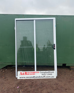 2100h x 1450w New Aluminium Sliding Door Unit