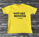 Oatcake Monster in training Yellow T-shirt