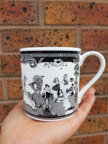 Monochrome Body Positive Willow Mug
