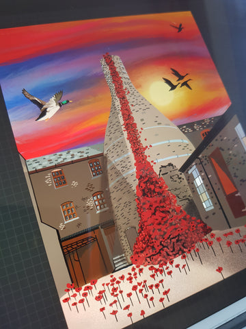 Potteries Poppy Paint by numbers