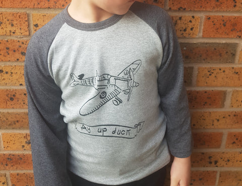 Ay up duck Spitfire Kids Raglan Long sleeved T-shirt
