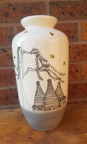 Large Torpedo Bottle kilns and Bees Vase