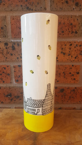 Sunshine, Bees & Bottle Kilns Tall Cylindrical Vase