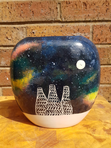 Kilnscape Galaxy Flat Pillow Vase