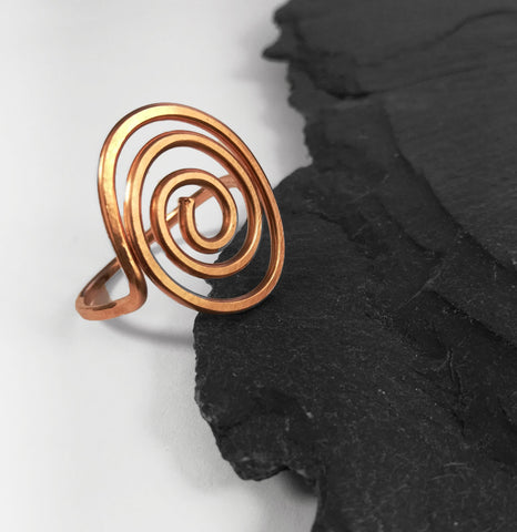 Flat Spiral Copper Ring