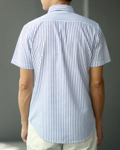 Dry Seersucker Shirt - Stripe