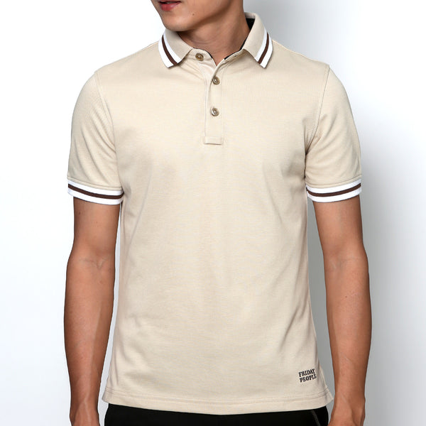 Active Polo - Beige Stripe