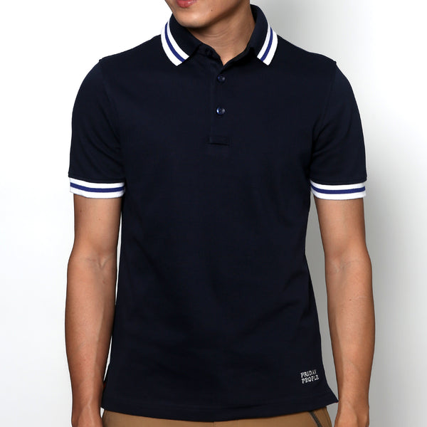 Active Polo - Navy Stripe