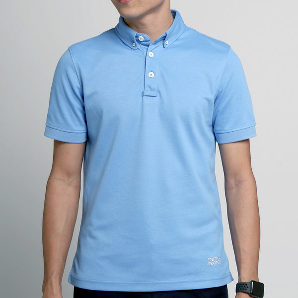 FRIDAY PEOPLE ACTIVE POLO BLUE