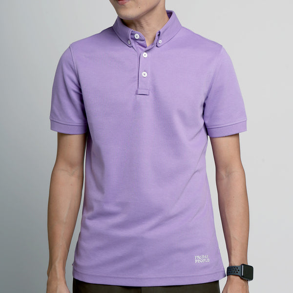 FRIDAY PEOPLE ACTIVE POLO PURPLE