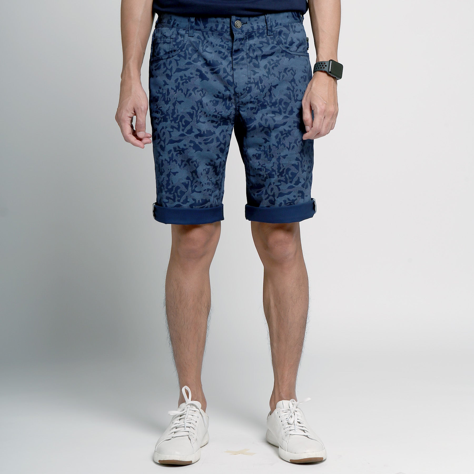 FRIDAY PEOPLE URBAN SHORTS BLUE CAMO CYCLING