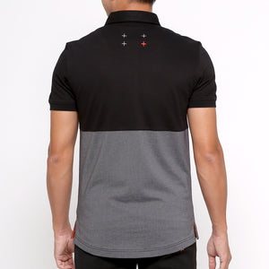 Active Polo - 2-tone Black (available size : S only)