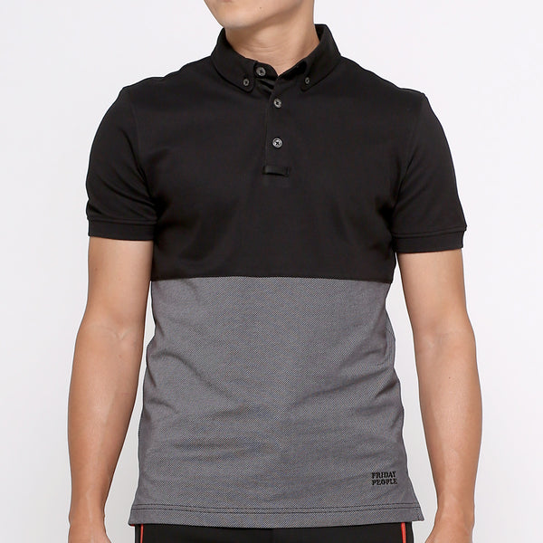 Active Polo - 2-tone Black