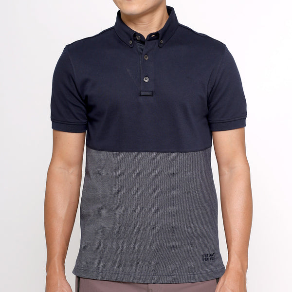 Active Polo - 2-tone Navy
