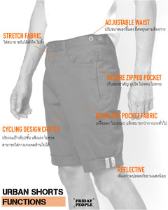 urban shorts travel cycling japan bangkok menswear brown