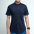 FRIDAY PEOPLE ACTIVE MANDARIN SHIRT NAVY