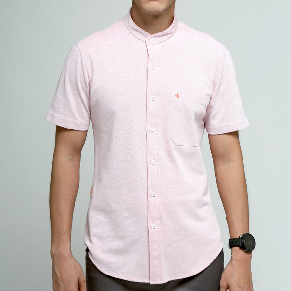 FRIDAY PEOPLE ACTIVE MANDARIN SHIRT CHERRY BLOSSOM
