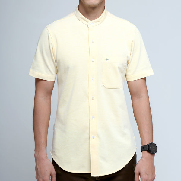FRIDAY PEOPLE ACTIVE MANDARIN SHIRT YELLOW