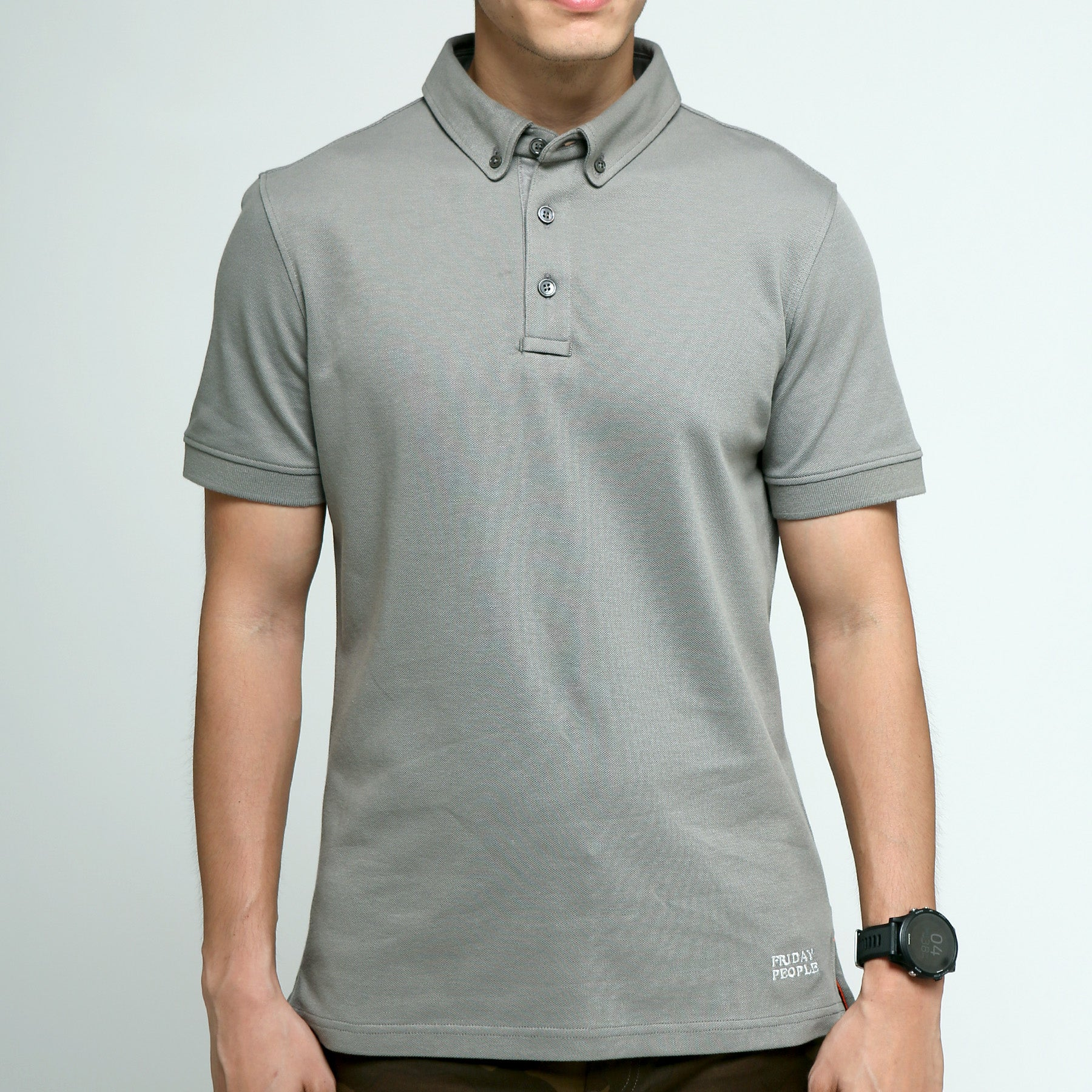 FRIDAY PEOPLE ACTIVE POLO GREY COMFORTABLE