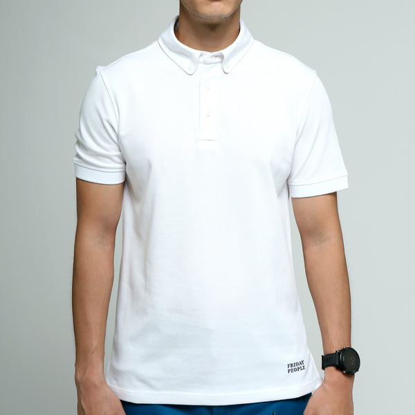 FRIDAY PEOPLE ACTIVE POLO WHITE COMFORTABLE