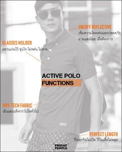 Active Polo - White (available size : S only)