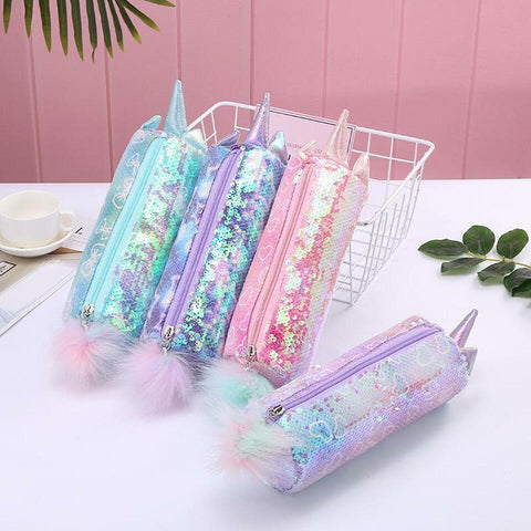 Unicorn Candy Sequin Pencil Case