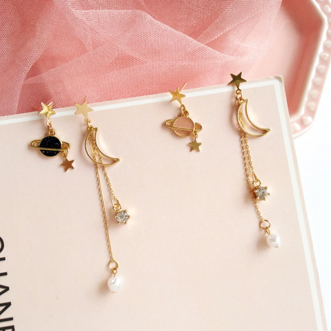 Fantasy Starry Sky Pearl Earrings