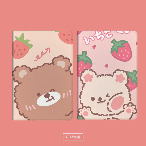 Strawberry Bear Ipad Cases