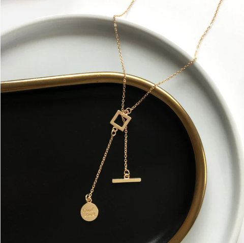 Asymmetric Geometry Clavicle Necklace