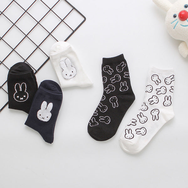 Cartoon Anime Rabbit Socks
