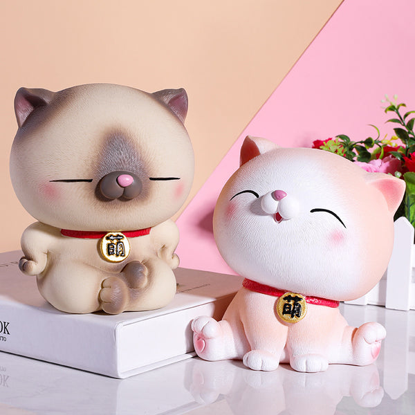Cute Cat And Dog Piggy Bank
