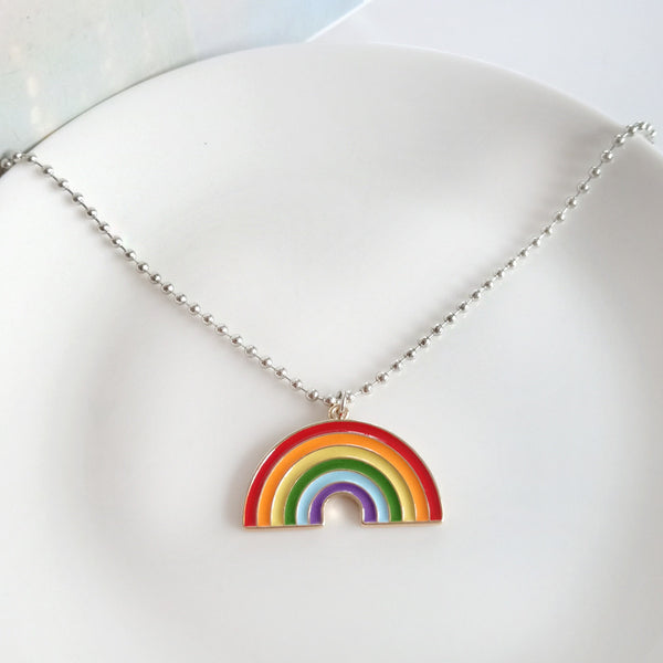Creative Rainbow Clavicle Necklace
