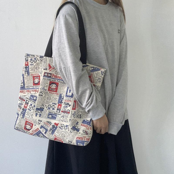 Harajuku Retro Tote Bag