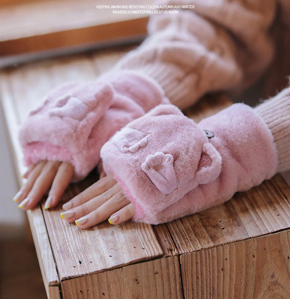 Cute Cartoon Cashmere Gloves