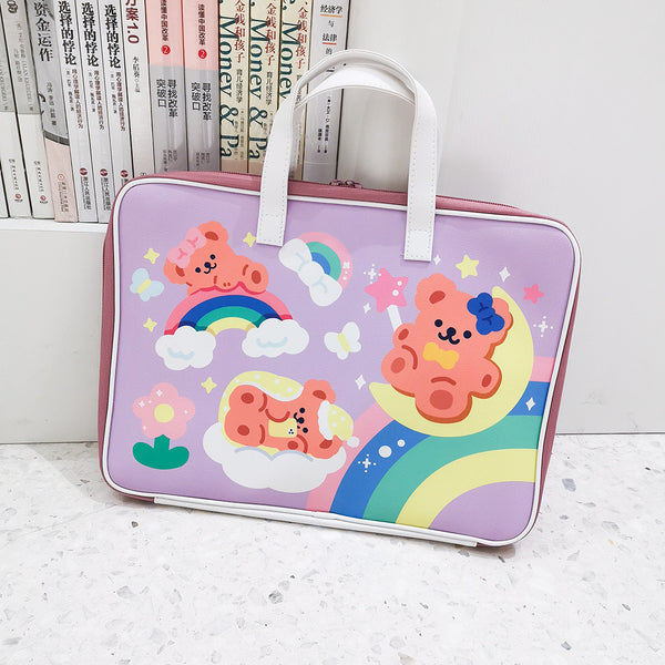 Rainbow Bear Laptop Bag