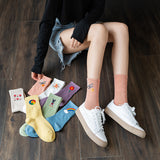 Cute Embroidery Cotton Socks
