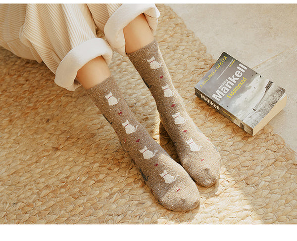 Cute Cat Retro Socks