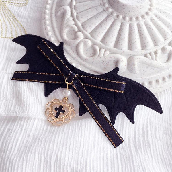 Batwing Bow Love Hairpin