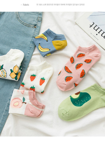 Kawaii Fruit Socks