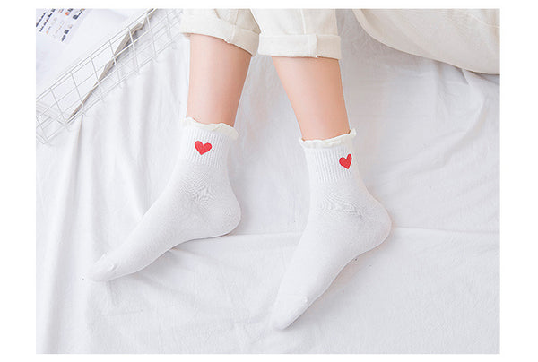Fashion Cartoon Love Socks