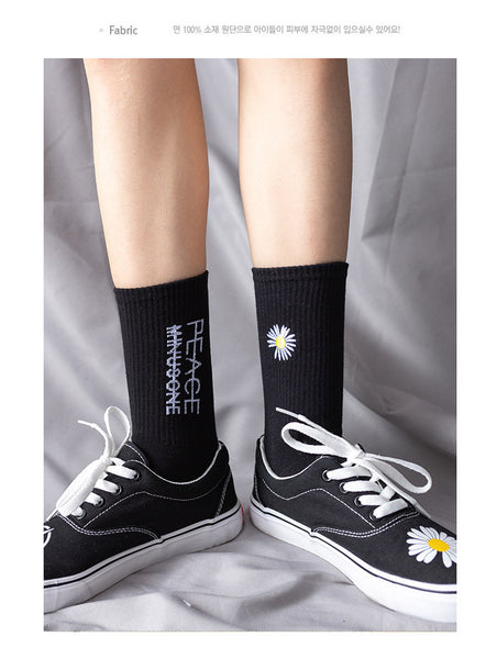 G-Dragon Daisy Black Socks