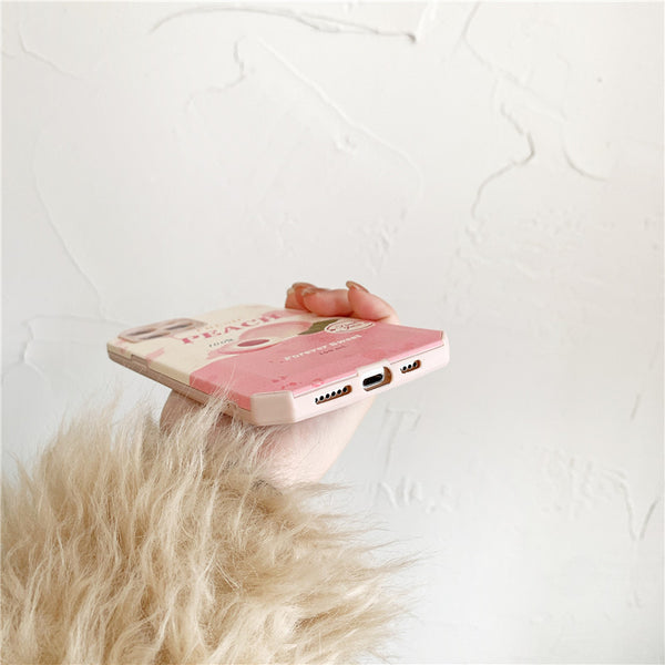 Pink Fresh Peaches Phone Case