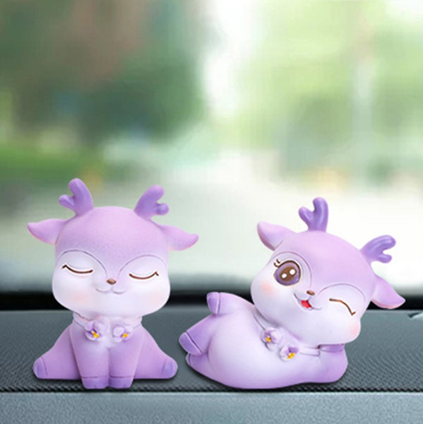 Purple Deer Resin Ornaments