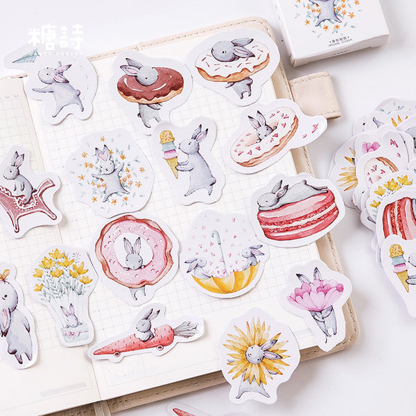 Cute Gray Rabbit Sticker
