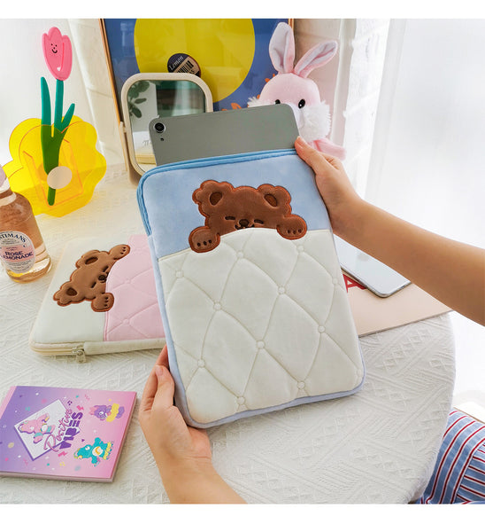 Sleep Bear iPad Plush Storage Bag