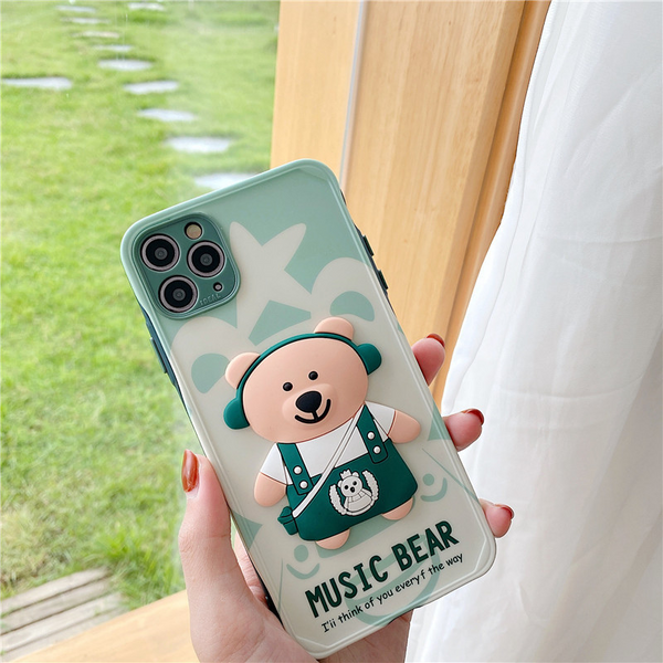 Headset Bear Phone Case