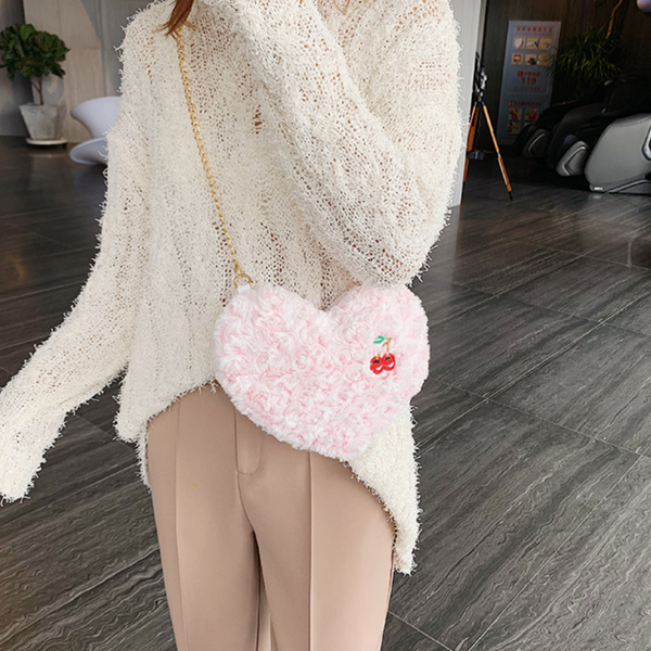 Love Cherry Plush Bag